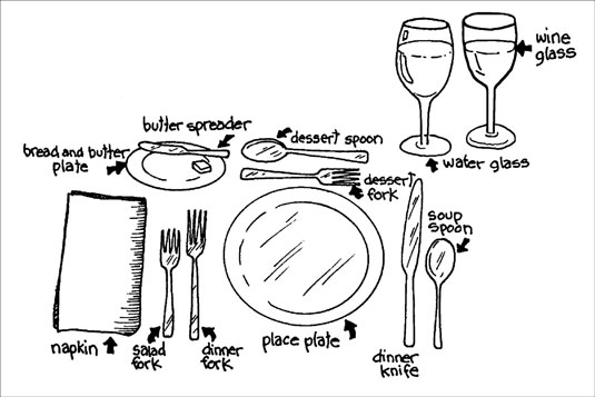 June 2012 annecane for Simple table setting